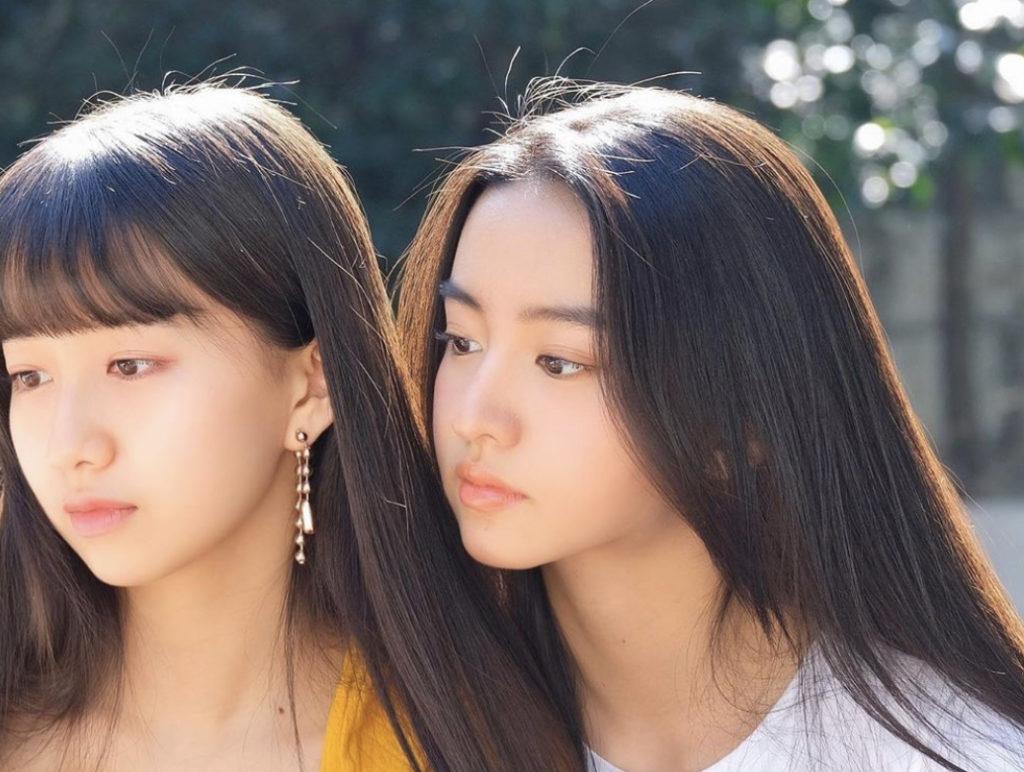 CocomiとKoki姉妹のツーショット
