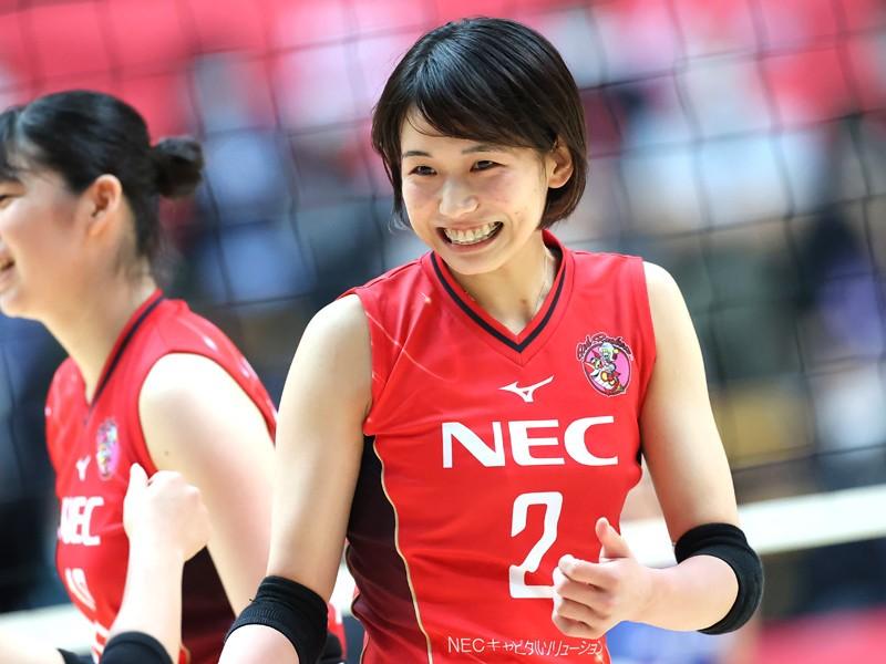 古賀紗理那さんの髪型がかわいい